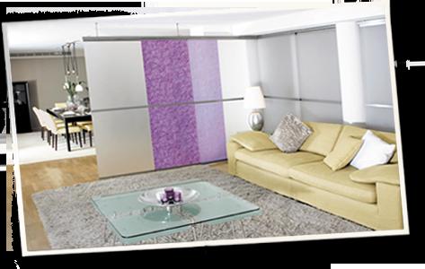 zimmer mit vorhang unterteilen. Black Bedroom Furniture Sets. Home Design Ideas