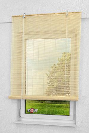 bambus rollups als natur fensterdeko in standardma en. Black Bedroom Furniture Sets. Home Design Ideas