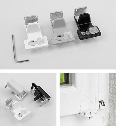 exklusiv klemmtr ger decomatic plissee zubeh r f r sensuna decomatic. Black Bedroom Furniture Sets. Home Design Ideas