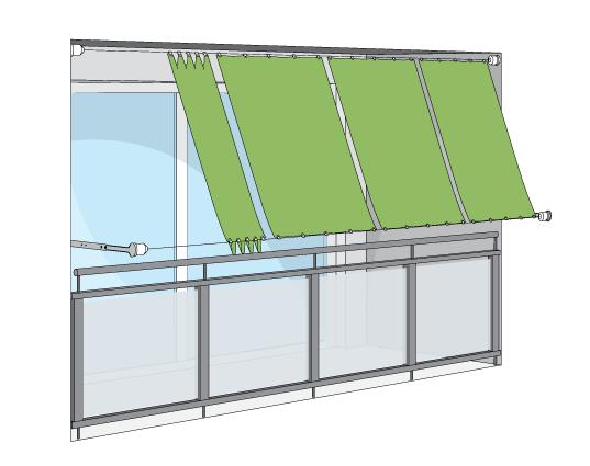 Terrassenbeschattung Mit Outdoor Plissees Und Seilspannsonnensegeln