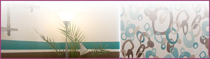 rollo mit motiv oder muster bei. Black Bedroom Furniture Sets. Home Design Ideas